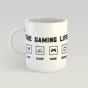 The gaming life: East, Sleep, Game, Repeat bögre