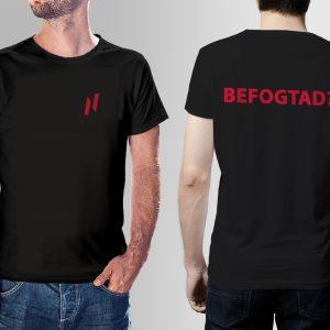 Blackii póló kis logóval BEFOGTAD? felirattal kétoldalas