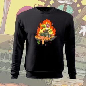 Scheff Burn Baby sima pulóver